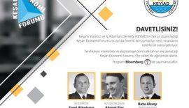 KEYİAD'ın 5. Ekonomi Forumu 30 Eylül'de BENDİS AVM'de…