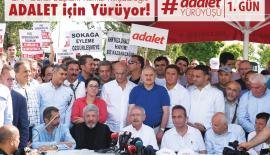 Kılıçdaroğlu, Adalet Yürüyüşü'nün İlk Gününde Konuştu…
