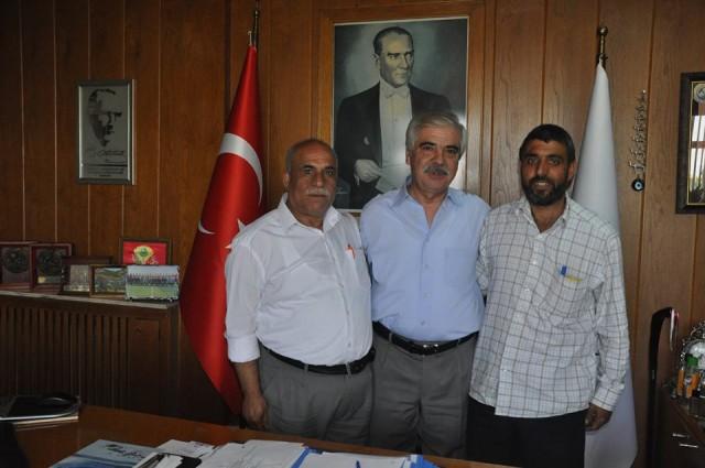 """""""Kaymakam Hasan""""  'dan Başkan Özcan'a ziyaret"""