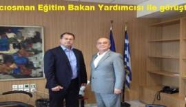 Ahmet Hacıosman'dan Bakan Yardımcısı'na ziyaret