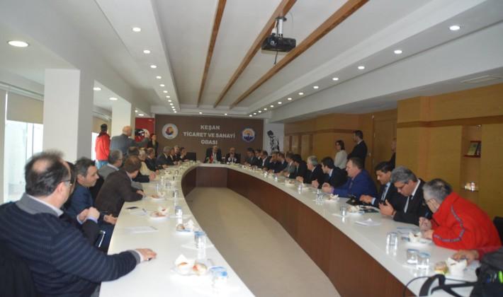 Keşan TSO'da düzenlenen Bölgesel İşbirliği toplantısında karşılıklı sorunlar ele alındı
