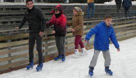 Lüleburgaz'da buz pisti açıldı