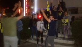 Keşan'da Fenerbahçelilerden Buruk Kutlama…