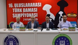 '16. Uluslararası Türk Daması Şampiyonası', Bursa'da başlıyor.