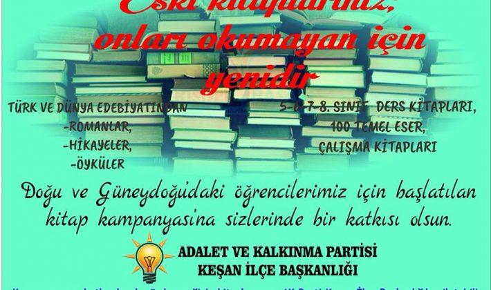 AK Parti Keşan İlçe Başkanlığı'ndan Kitap Kampanyası…