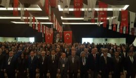 CHP'de Fevzi Pekcanlı yeniden başkan seçildi.