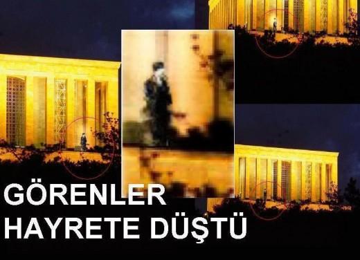 On Kasım Gecesi Anıtkabir'den alınan görüntüler…