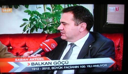 Aydın Özcan, TRT 1′ e konuk oldu.