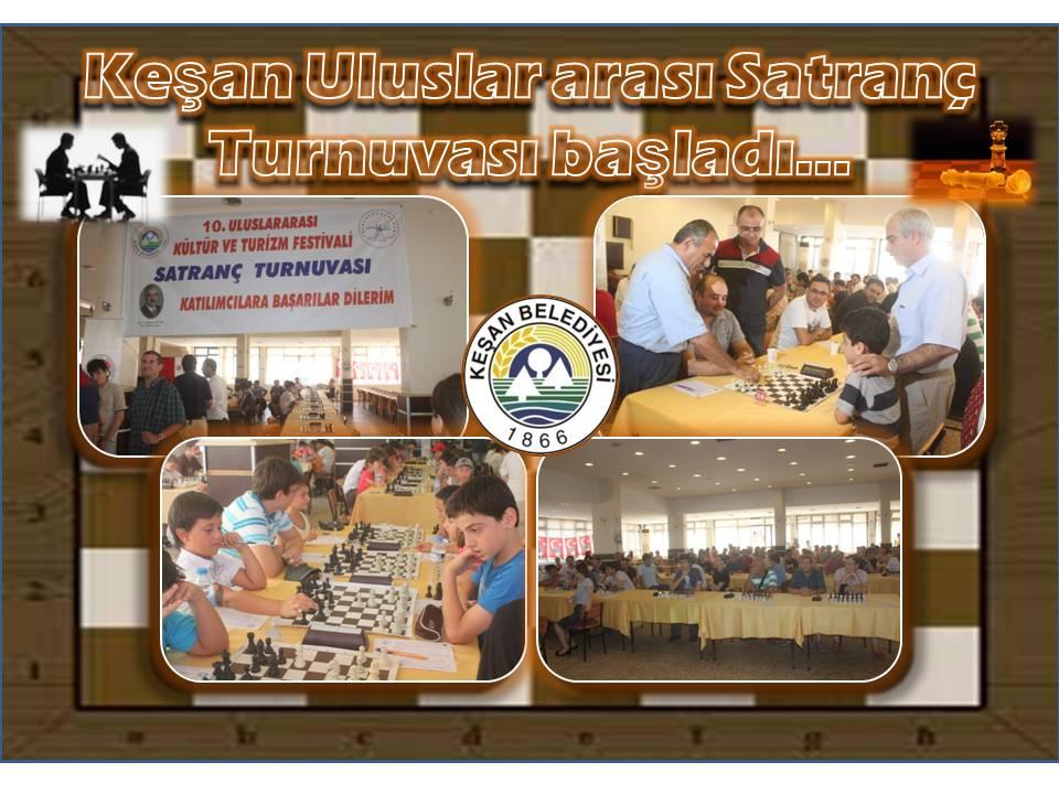 10.Uluslararası Keşan Satranç Turnuvası başladı…