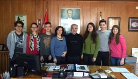 Çevre Kulübü öğrencilerinden Özcan'a ziyaret…