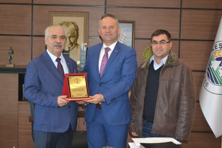 Kaynarca Belediye Başkanı Türker, Özcan'ı ziyaret etti