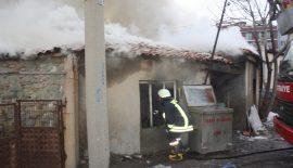 Boş durumdaki ev yandı (Videolu Haber)