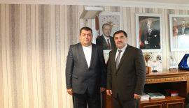 Kırkpınar Ağası Ahmet Çetin Türkiye Güreş Federasyonu Başkan Aydın'ı Ziyaret Etti