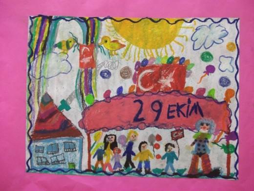 """""""Cumhuriyet Benimdir"""" konulu resim yarışmasının ödül töreni yapıldı"""