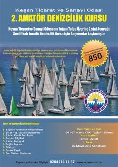 Keşan TSO, Yoğun Talep Üzerine Sertifikalı Amatör Denizcilik Kursunun 2.sini Açacak…