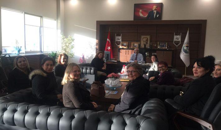 CHP Edirne Kadın Kolu Başkanlarından Başkan Mehmet Özcan'a kongreye davet ziyareti…