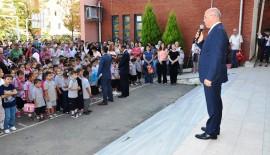 """Öğrenciler yeni döneme Başkan Eşkinat ile """"Merhaba"""" dedi"""
