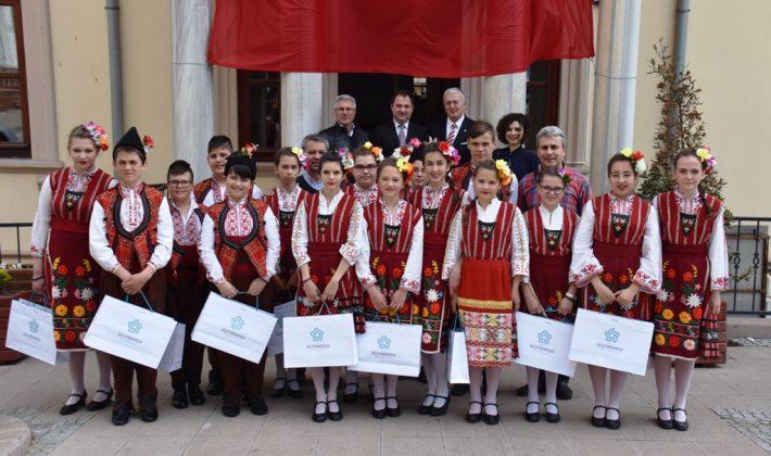 Bulgaristan'daki kardeş şehir Pomorie'de Süleymanpaşa Çocuk Şenliğine Katıldı.