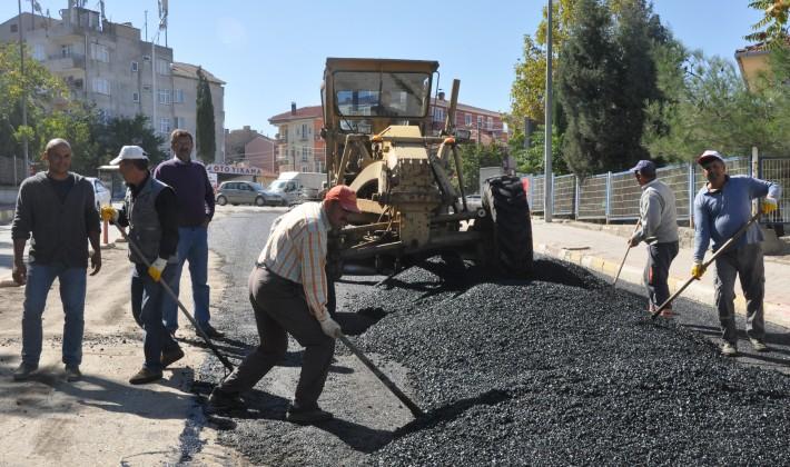 Keşan'da asfalt çalışmaları tüm hızıyla sürüyor