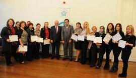 Başarılı kadın girişimciler sertifikalarını aldı
