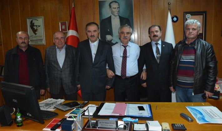 Kocaeli Trakya İlleri Derneği Yöneticilerinden Özcan'a ziyaret
