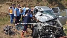 Malkara'da Feci Kaza 3 ölü, 3 yaralı (Videolu Haber)