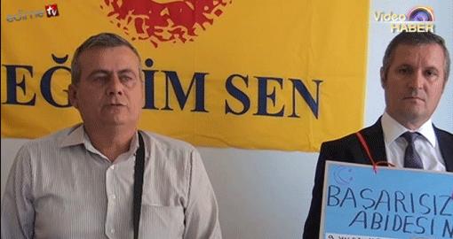 """Gücüyener'den """"Başarısızlık Abidesi Müdür"""" protestosu (VİDEOLU HABER)"""