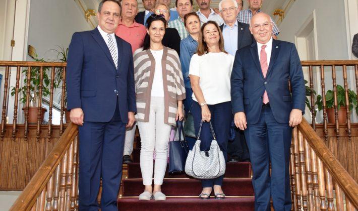 Giresun Belediye Başkanı Kerim Aksu Başkan Eşkinat'ı ziyaret etti