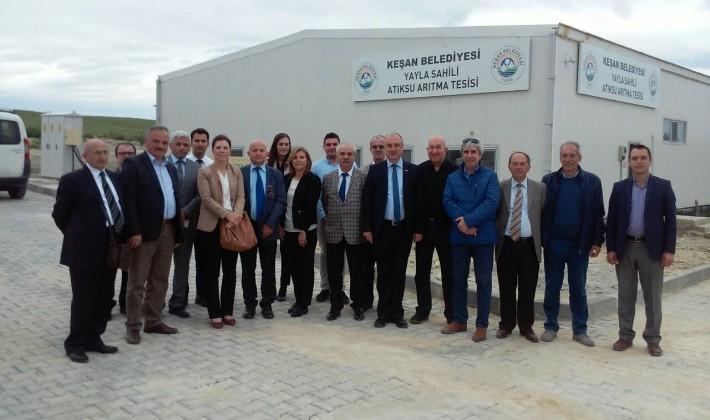 Özcan TESKİ Genel Müdürü Başa ile Yayla Atıksu Arıtma Tesisi'ni ziyaret etti.
