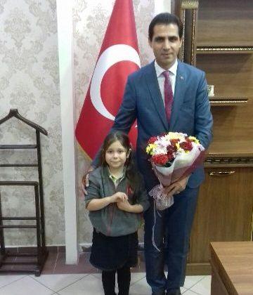 Bahçeşehir İlkokulu Öğrencilerinden Milli Eğitim ve Kütüphane Müdürlüğü'ne Ziyaret