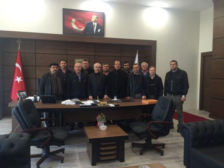 Keşan Ziraat Odası'ndan Özcan'a yeni makamında ziyaret…