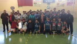 Voleybol Genç Erkeklerde Mehmet Akif Ersoy Lisesi Şampiyon