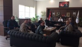 Minibüsçüler Kooperatifi'nin Yeni Yönetiminden Özcan'a Ziyaret