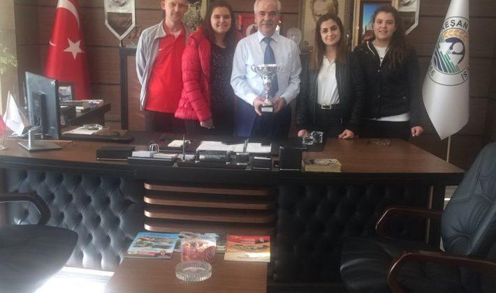 Keşan Yıldızı Spor Kulübü'nden Özcan'a Ziyaret