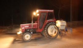 Keşan Belediyesi ekipleri kar çalışmalarını sürdürüyor…