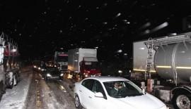 Tekirdağ-Malkara Karayolunda 1000 araç mahsur kaldı