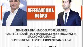 """""""Referanduma Doğru""""nun 27 Mart'taki konuğu Erdin Bircan"""