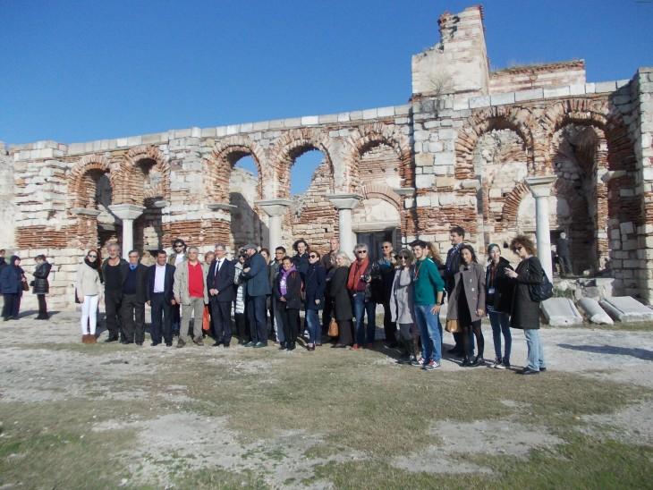 50 kişilik sanatçı grubu, Enez'in tarihi yerlerini gezdi