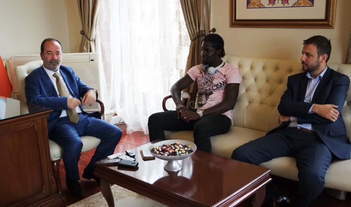Mali'li transferden Gürkan'a ziyaret