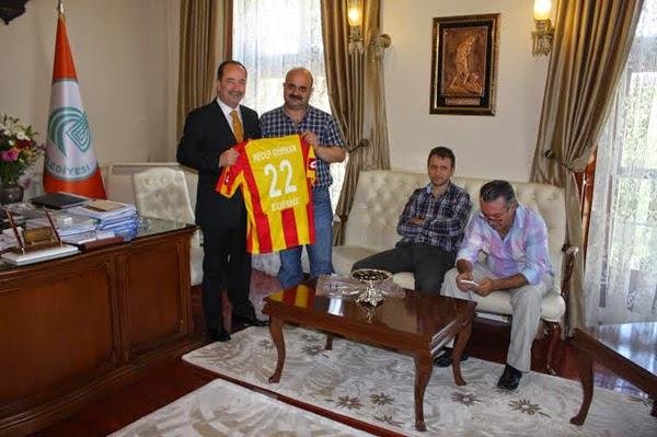 Edirnespor GK'dan Başkan Gürkan'a Ziyaret…