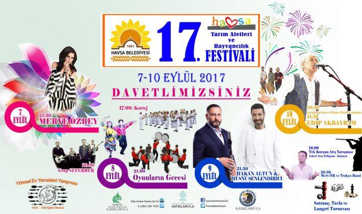 Havsa Festivali 7 Eylül'de başlayacak.