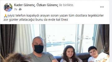 Enez Belediye Başkanı Özkan Günenç'in eşi ve çocuklarının Covid testi pozitif çıktı