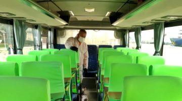 Gelibolu'da Toplu Taşıma Araçları Virüse Karşı İlaçlanıyor