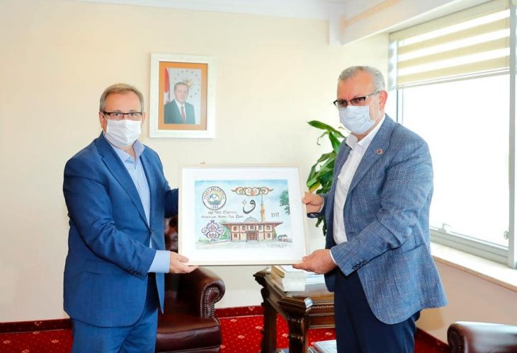 Helvacıoğlu'ndan Rektör Tabakoğlu ve Genel Sekreter Yardımcılarına ziyaret