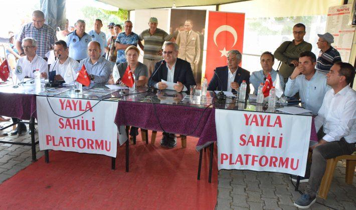 Başkan Helvacıoğlu, ekibiyle birlikte Yayla'da halkla buluştu