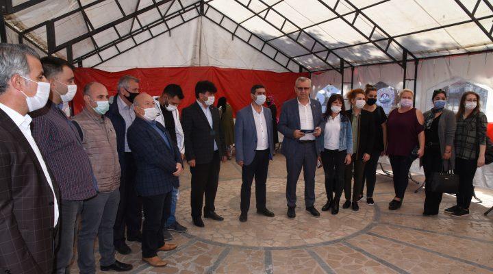 """Mustafa Helvacıoğlu: """"Birimimize 1,5 yılda 153 bin eşya yardımı yapıldı"""""""