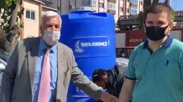 Keşan Belediyesi'nden esnafa dezenfeksiyon desteği
