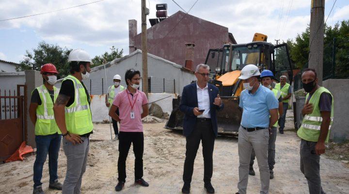 Belediye ve GAZDAŞ işbirliğinde  7 kilometrelik doğal gaz hattı çalışması yapılıyor