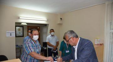Tarihi projenin ilk abonesi Belediye Başkanı Mustafa Helvacıoğlu oldu