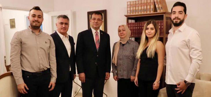 İmamoğlu'ndan,Orhan Çakır'ın ailesine ziyaret